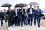 Igor Shuvalov pays a visit to the construction site for the stadium in Kaliningrad
