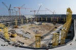 F.I.F.A. tours the construction sites for the Russia-2018 World Cup Championship stadiums in Kaliningrad and Rostov-on-Don
